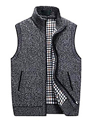 cheap -men's knitted  vest,fall winter warm sweater vest father's birthday gift size m to xxxxl