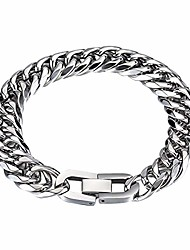 cheap -chunky cuban link chain bracelet,polished silver stainless steel bracelet, width:7/10/12/17mm,length:18/19/21/23cm, women men jewelry