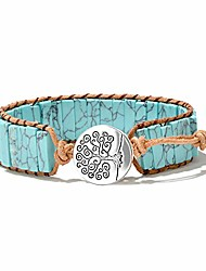 cheap -mermaid boho chic turquoise wrap bracelet for womentree of life bead wrap bracelet chakra healing bracelet for summer with extended clasp