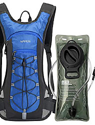 cheap -hydration backpack with 2l leak-proof water bladder, water backpack for short day hikes, day trips and cycling (blue)