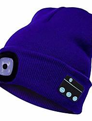 cheap -bluetooth beanie hat, warm gifts for women men with stereo speaker headphone, winter knitting beanie cap - blue