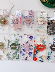 cheap -Phone Case For Apple Back Cover iPhone 12 iPhone 12 Pro Max iPhone 12 Pro Shockproof Flower TPU