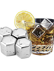 cheap -Ice Cube Set Whisky Stones Reusable Food Grade Bullet Shaped Stainless Steel Ice Cube Chilling Rock Wine Coffee Chiller Bar Chiller Tool 304 Stainless Steel
