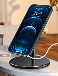 cheap -Phone Holder Stand Mount Desk Cell Phone 360° Rotation Phone Desk Stand Adjustable 360°Rotation Metal Phone Accessory iPhone 12 11 Pro Xs Xs Max Xr X 8 Samsung Glaxy S21 S20 Note20