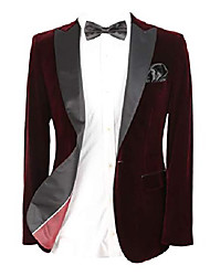 cheap -paul andrew mens burgundy velvet blazer with black contrast sheen lapel size 40r uk