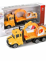 cheap -mini children alloy simulation toy car model toy rubbish rruck construction vehicle toy
