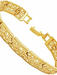 cheap -lifetime jewelry 9mm filigree bracelet for women 24k real gold plated charm (7)
