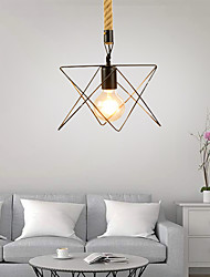 cheap -1-Light 18 cm Mini Style Pendant Light Hemp Rope Painted Finishes Traditional / Classic / Country 220-240V