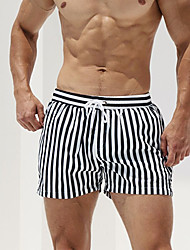 cheap -Men's New Vacation Fashion Board Shorts Swimsuit Drawstring Pocket Normal Swimwear Bathing Suits White / Sports