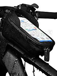 cheap -1.5 L Bike Frame Bag Top Tube Multifunctional Rain Waterproof Waterproof Zipper Bike Bag EVA Bicycle Bag Cycle Bag Outdoor Exercise