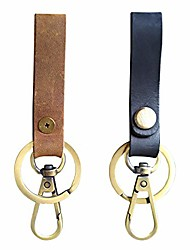 cheap -leather keychain with key ring and belt clip for men,retro key chain holder organizer