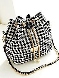 cheap -fashion shoulder bags satchel clutch women handbag tote purse messenger hobo bag (houndstooth)