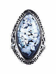 cheap -faux gemstone ring big water droplet shape colorful sequins punk ring exotic style beach ring for women girls