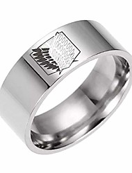 cheap -usa attack on titan giant legion flag titanium steel ring for men boy couple engagement promise ring band (silver, 10)