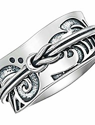 cheap -925 sterling silver tsunami art japanese arts inspired meditation spinner ring (style us52) (12)