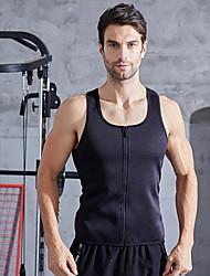 cheap -Waist Trainer Vest Body Shaper Sweat Waist Trainer Corset Sports Spandex Gym Workout Exercise & Fitness Zipper Durable Weight Loss Tummy Fat Burner Hot Sweat For Men