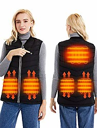 cheap -heated vest for men women,usb electric heating vest, charging lightweight heated jacket warm vest suitable for winter outdoor sport, hiking hunting camping motorcycle(battery pack not included)