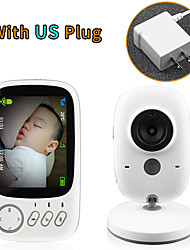 cheap -3.2 inch Wireless Video Color Baby Monitor High Resolution Baby Nanny Security Camera Night Vision Temperature Monitoring
