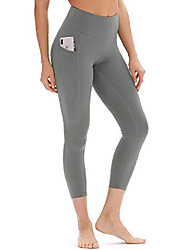 cheap -ladies high waist sport leggings yoga pants sport pants sweatpants with pocket (m, gray)