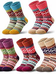 cheap -women wool socks for winter, vintage winter socks thick cozy knit wool socks for women (a-5 pairs)