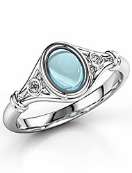 cheap -womens fashion natural gemstone ring moonstone 925 sterling silver ring female engagement ring jewelry