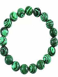 cheap -malachite crystal green beads bracelet the anti-anxiety bracelet adjustable elasticity brings luck wealth handmade bracelet 7.5 inch (8 mm bead) (green)
