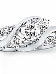cheap -1 carat (ctw) d-vvs1 moissanite engagement rings for women platinum plated silver ring moissanite rings-y5