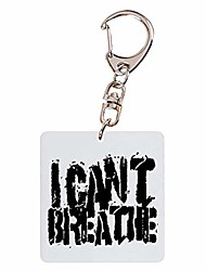 cheap -i can't breath keychain, black lives matter acrylic keychain pendant creative collection bag key decoration(style 01)