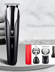 cheap -6 in 1 Multifunctional Oil-head Hair Clipper Rechargeable Electric Hair Clipper T-knife Hair Salon Scissors