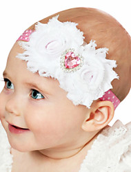 cheap -1pcs Toddler / Infant Girls' Active / Sweet White / Red Floral Flower / Heart Chiffon Hair Accessories White / Red / Blushing Pink One-Size