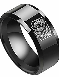 cheap -anime stainless steel ring for men scout regiment wings engraved finger ring fashion jewelry with chain anime fans gifts(#10 black)
