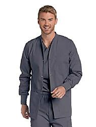 cheap -men's warm-up scrub jackets medical shirt, steel, small