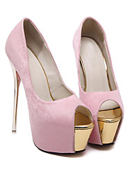 cheap -Women's Heels Stiletto Heel Peep Toe Casual Daily Walking Shoes Satin Solid Colored White Black Pink