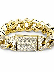 cheap -20mm 6 times 14k gold plated full iced out prong setting cubic zirconia box clasp miami cuban link bracelet for men hip hop (gold-plated-brass, 8)