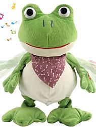cheap -Stuffed Animal Talking Stuffed Animals Plush Toy Plush Toys Plush Dolls Frog Singing Walking Plush Cotton Croaking Frog Imaginative Play, Stocking, Great Birthday Gifts Party Favor Supplies All Kids