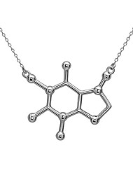 cheap -caffeine molecule necklace in 925 sterling silver