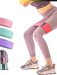 cheap -Booty Bands Resistance Bands for Legs and Butt Sports Rubber Latex silk ABS Yoga Pilates Exercise & Fitness Portable Stretchy Durable Butt Lift For Women
