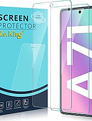 cheap -zeking [2-pack] samsung galaxy a71 tempered glass screen protector, 9h hardness [3d touch][case friendly] [anti scratch][anti-fingerprint] bubble free