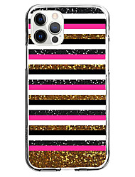 cheap -Stripes Case For Apple iPhone 12 iPhone 11 iPhone 12 Pro Max Unique Design Protective Case Shockproof Back Cover TPU
