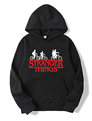 cheap -Inspired by Stranger Things Cosplay Cosplay Costume Hoodie Polyester / Cotton Blend Graphic Prints Printing Harajuku Graphic Hoodie For Women's / Men's