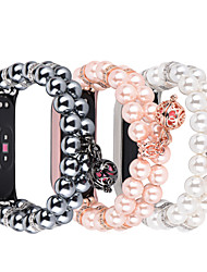 cheap -Smart Watch Band for Xiaomi 1 pcs Jewelry Design Elastic Beaded Replacement  Wrist Strap for Mi Band 3 Xiaomi Mi Band 4 Xiaomi Band 5