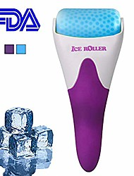 cheap -ice roller for face & eye puffiness, migraine, pain relief, skin care massager products (purple)