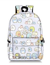 cheap -17 in cartoon cute sumikko doll pattern gurashi backpack, wearable bookbag for boys, unisex waterproof high school bag. (light purple, one size)
