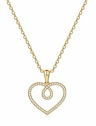 cheap -love heart necklaces for women jewelry, 14k gold filled pendant heart necklace love heart necklace forever love gifts for her women gold jewelry