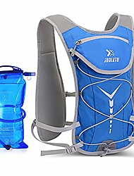 cheap -hydration pack backpack 5.5l 6 pockets volume marathoner running race hydration vest running hiking backpack with hydration pack (blue)