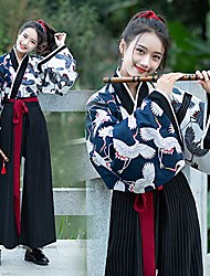 cheap -women's ancient chinese costume, vintage chinese dress song dynasty suit for party holiday, photo shoot clothing flower printing 2 suits,s