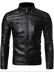 cheap -handcrafted exports mens's biker jacket short lambskin zipper closure winter cover