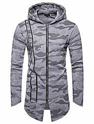 cheap -mens long slim fit hooded zip hoodie  knitted cardigan sweater long trench coat  jacket solid tops goosun fashion warm sweatshirt pullover long overcoat outwear gray
