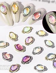 cheap -20 pcs New Year Gradient Nail Art Rhinestone Nail Piece Decorative Diamond Rainbow Bubble Nail Art Ornament Christmas Nail Sequins