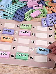 cheap -children's math teaching aids number number stick learning addition and subtraction operation domino kindergarten early teaching toys (110 pieces b)